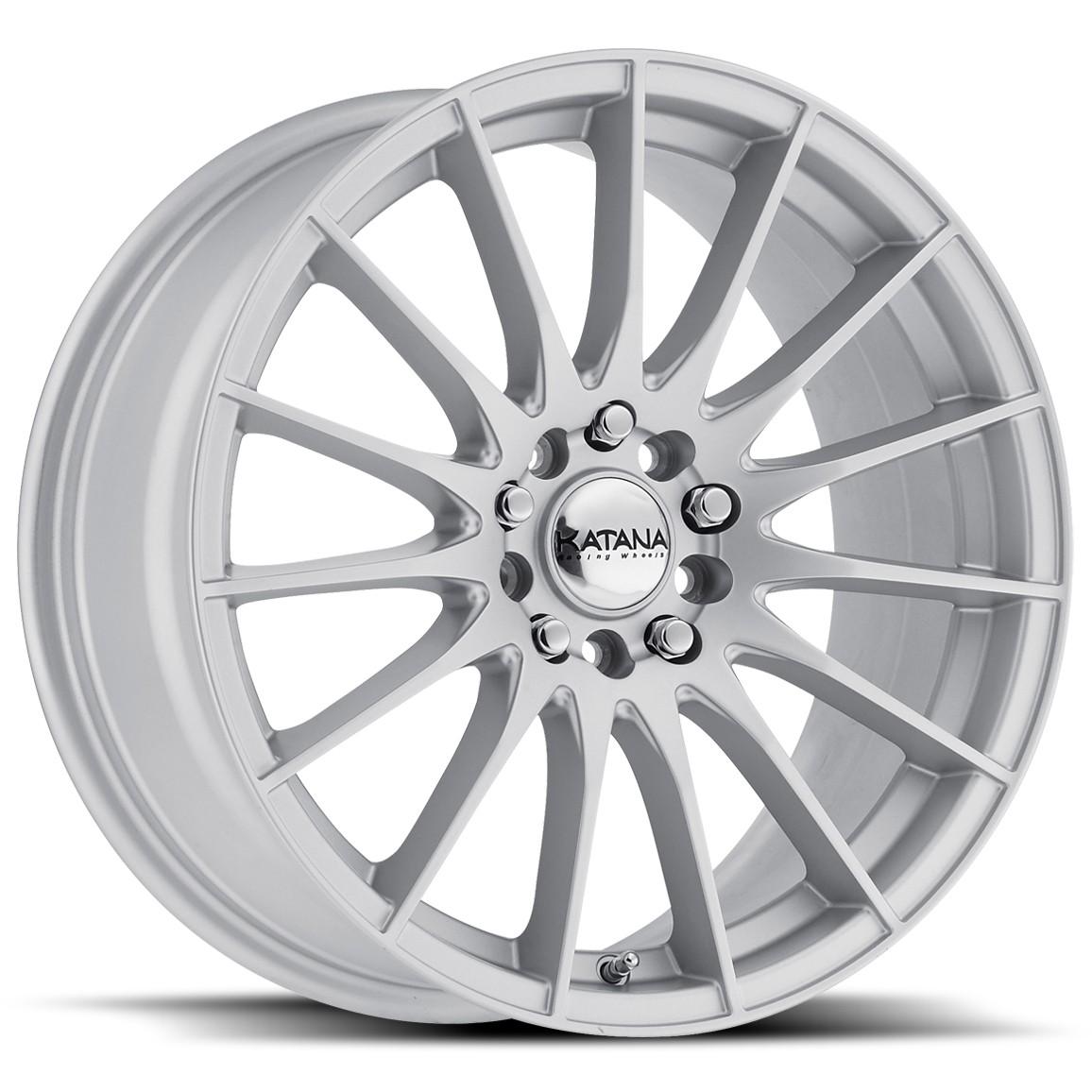 Katana KR33 17x8 4x100 4x114.3 40et Gloss Silver Wheels Rims